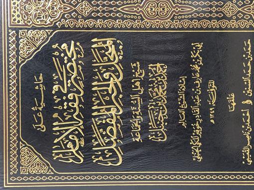 Picture of حاشية على مختصر في فقه الإمام المبجل والحبر المفضل